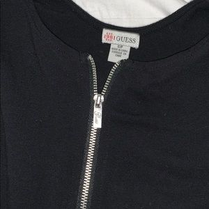 black guess tee with zipper